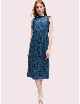 Flora Lace Ruffle Dress by Kate Spade