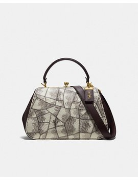 Frame Bag In Snakeskin by Coach