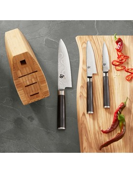 Shun Classic 4 Piece Knife Block Set by Williams   Sonoma