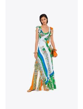 Patchwork Printed Dress by Tory Burch