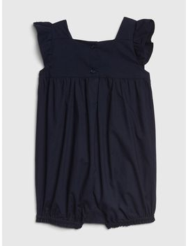 Embroidered Yoke Shorty One Piece by Gap