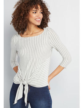 Weekend Wellness Knit Top by Modcloth