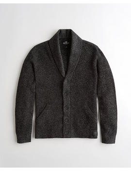 Shaker Stitch Shawl Cardigan by Hollister