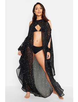 Kimono De Plage à Manches Papillons Imprimé étoiles by Boohoo