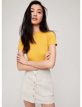 Nadia Skirt   Front Button Mini Skirt by Wilfred Free