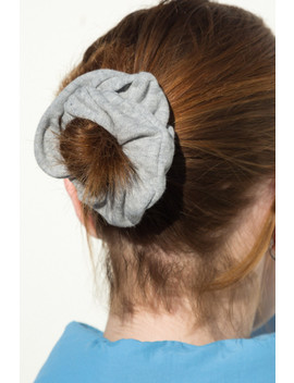 Light Heather Grey Scrunchie by Brandy Melville