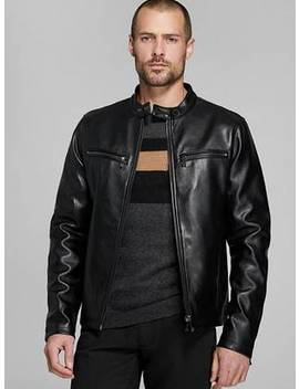 Faux Leather Biker Jacket by Guess