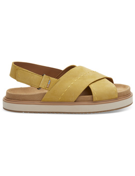 Electric Yellow Nubuck Women's Marisa Sandals by Toms