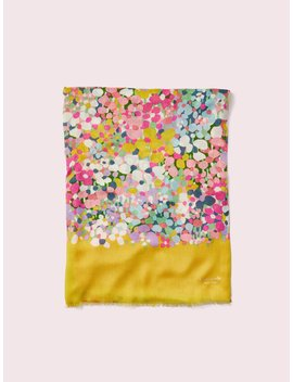 Floral Dots Oblong Scarf by Kate Spade