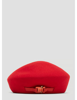 Bardot Beret In Red by 1017 Alyx 9 Sm