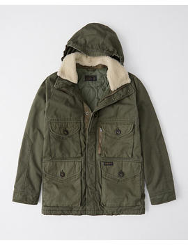 Removable Sherpa Combat Jacket by Abercrombie & Fitch