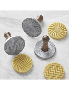 Nordic Ware Geo Cast Cookie Stamps, Set Of 3 by Williams   Sonoma