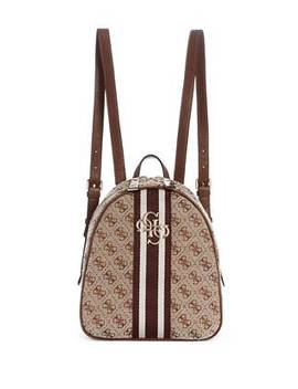 Quattro G Logo Contrast Trim Backpack by Guess