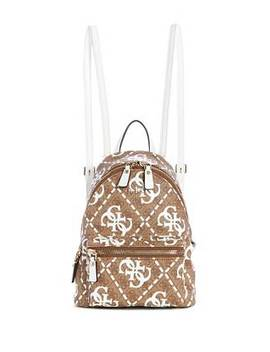Leeza Logo Print Backpack by Guess