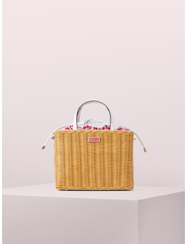 Sam Wicker Medium Satchel by Kate Spade
