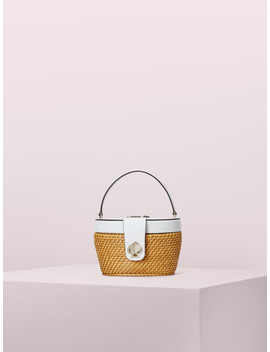 Rose Medium Top Handle Basket Bag by Kate Spade