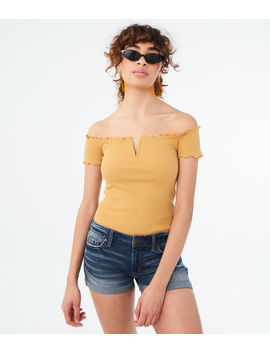 Lettuce Trim Off The Shoulder Top by Aeropostale