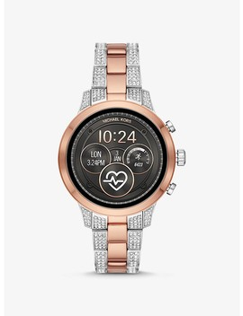 Runway Pavé Two Tone Smartwatch by Michael Kors Access