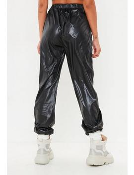 Tall Black Toggle Shell Suit Trousers by Missguided