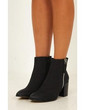 Verali   Cygo Boots In Black Nubuck by Showpo Fashion