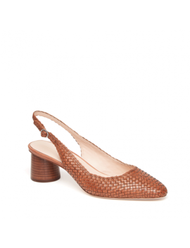 Martine Woven Slingback Pump With Wood Heel by Loeffler Randall