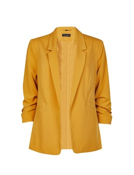 Yellow Ruched Sleeve Jacket by Dorothy Perkins