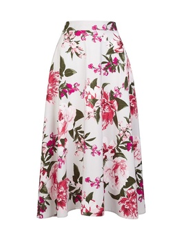 **Billie & Blossom Grey Floral Print Skirt by Dorothy Perkins