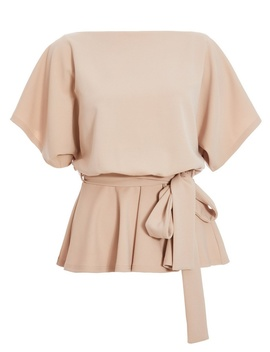 *quiz-nude-batwing-peplum-top by dorothy-perkins