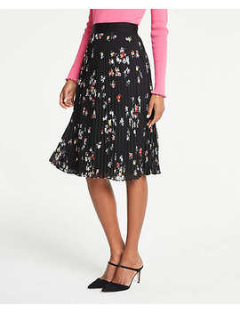 Petite Floral Pleated Skirt by Ann Taylor