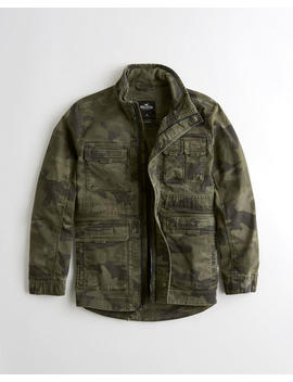 Camo Twill Utility Jacket by Hollister