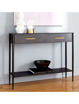 Metalwork Console   Hot Rolled Steel Finish by West Elm