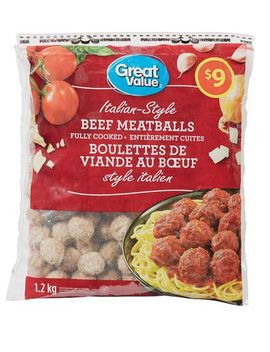 Great Value Italian Style Beef Meatballs by Great Value