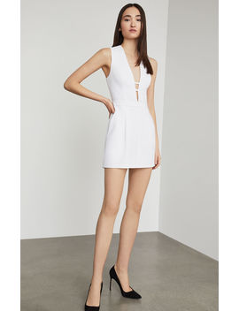 Pleated Deep V Romper by Bcbgmaxazria