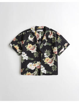 Floral Camp Shirt by Hollister