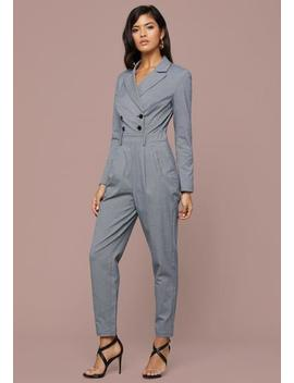 Micro Check Jumpsuit by Bebe