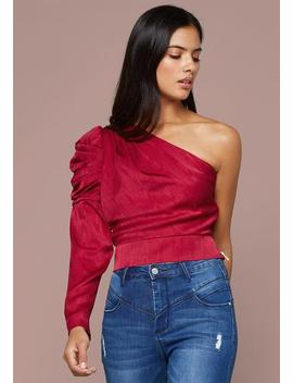 Aubree One Shoulder Top by Bebe