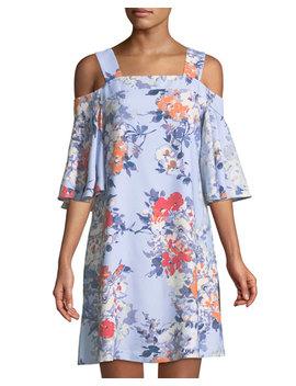 Cold Shoulder Flutter Sleeve Dress by Taylor