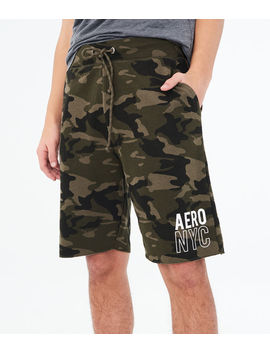 "Aero Nyc Camo 9"" Fleece Shorts by Aeropostale"