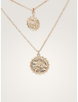 Double Strand Coin Necklace by Massimo Dutti