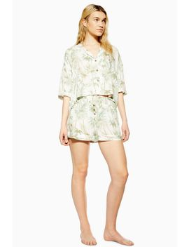 Tropical Palm Pyjama Shorts by Topshop