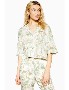 Tropical Palm Pyjama Shirt by Topshop