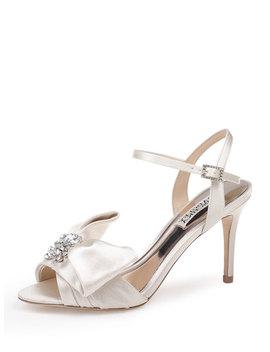 Samantha Embellished Satin Bow Sandals by Badgley Mischka