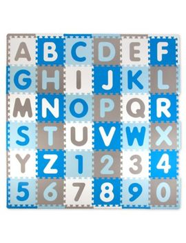Tadpoles Abc 60 Piece Play Mat In Blue/Grey by Bed Bath And Beyond