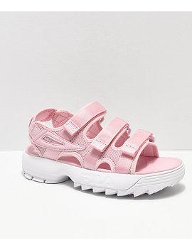 Fila Disruptor Pink & White Sandal by Fila