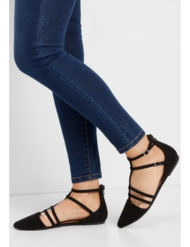 Lorelie Pointed Toe Zip Back Flat by Maurices