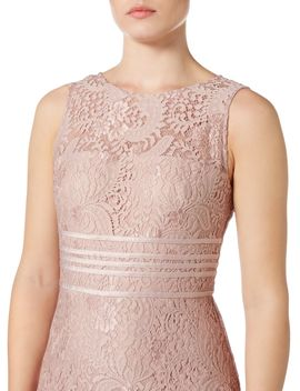 Midi Lace Dress With Banding by Js Collections