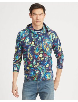 Paisley Cotton Hooded Tee by Ralph Lauren