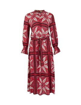 Petite Red Paisley Print Midi Dress by Dorothy Perkins