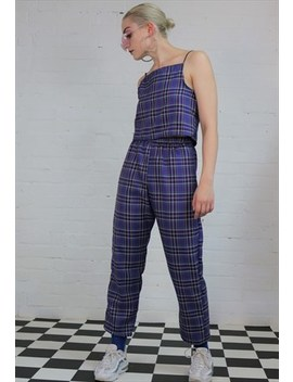 Tartan Check Co Ord In Purple by Dreaming London
