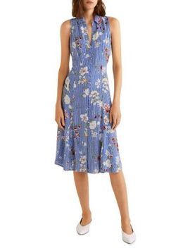Flowy Button Front Dress by Mango